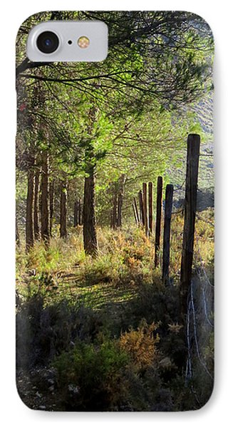 Morning Light On The Mountain, Andalucia, Spain  IPhone Case