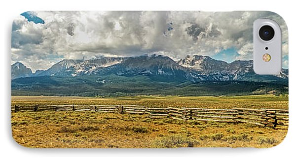 Morning Light On The Sawthooths IPhone Case by Robert Bales