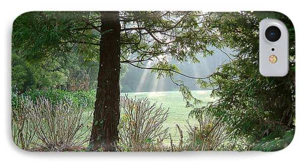morning light rays in Golden Gate Park IPhone Case by Michael Roll