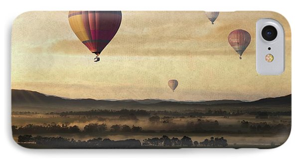 Morning Mist Balloon Ride IPhone Case by Movie Poster Prints