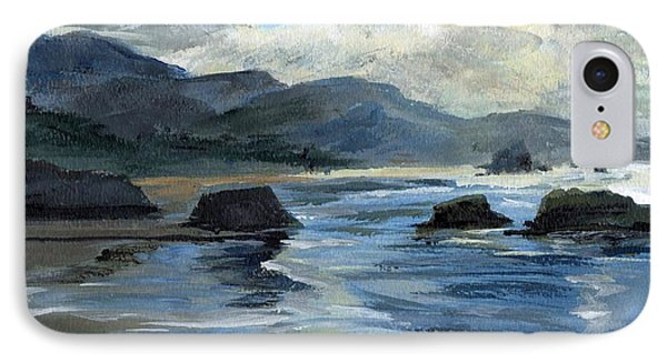 Morning Mists Oregon Coast IPhone Case by Randy Sprout