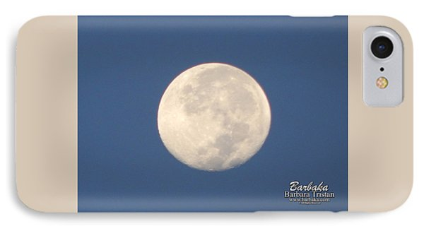 IPhone Case featuring the photograph Morning Moon by Barbara Tristan