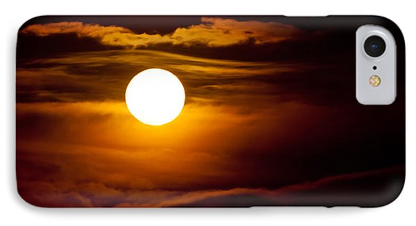 Morning Moonset IPhone Case by Colleen Coccia