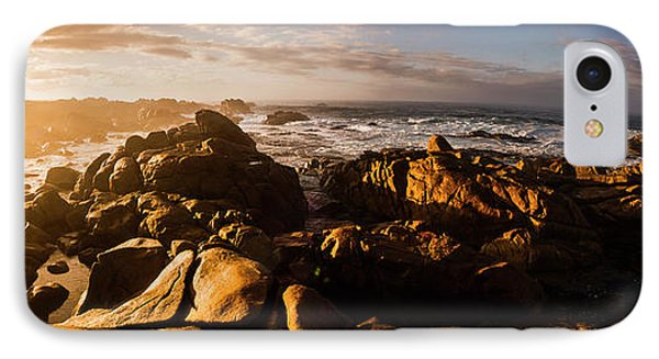 Morning Ocean Panorama IPhone Case by Jorgo Photography - Wall Art Gallery