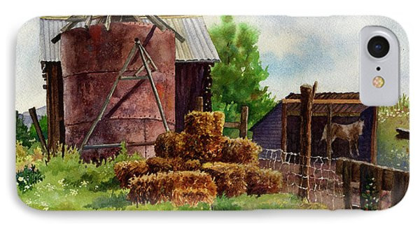 IPhone Case featuring the painting Morning On The Farm by Anne Gifford