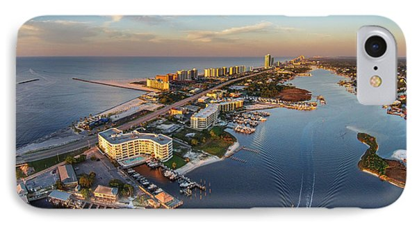 Morning Over Cotton Bayou And Perdido Pass  IPhone Case by Michael Thomas