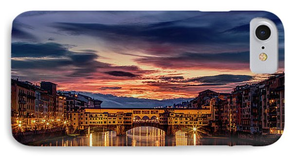 IPhone Case featuring the photograph Morning Panorama In Florence by Andrew Soundarajan