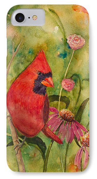 Morning Perch In Red Phone Case by Renee Chastant