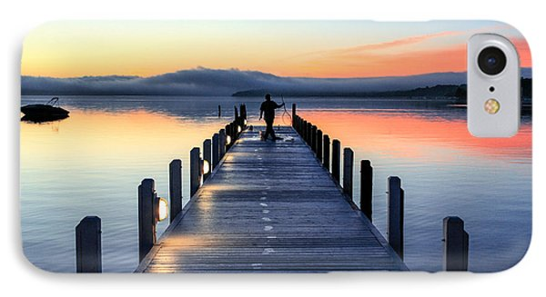 Morning Pier IPhone Case by Todd Klassy