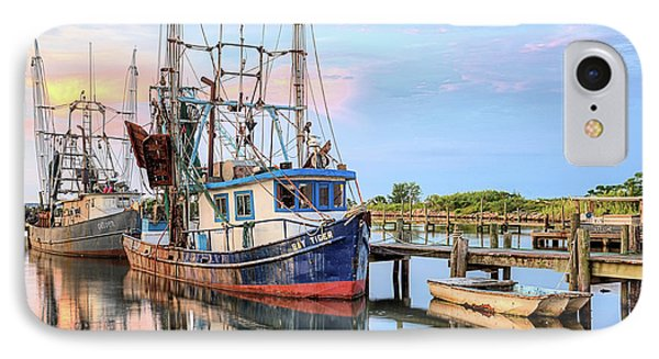 Morning Shrimpers IPhone Case by JC Findley