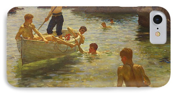 Boat iPhone 7 Case - Morning Splendour by Henry Scott Tuke