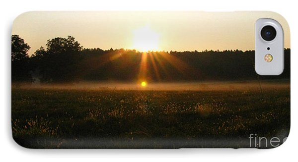IPhone Case featuring the photograph Morning Sun Lite Field by Donna Brown
