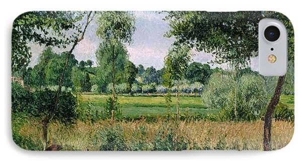 Morning Sunlight Effect At Eragny IPhone Case by Camille Pissarro