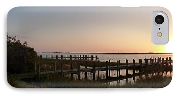 IPhone Case featuring the photograph Morning Sunrise Over Assateaque Island by Donald C Morgan