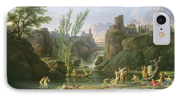 Morning  The Bathers IPhone Case by Claude Joseph Vernet