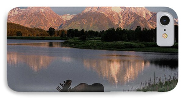 Mountain iPhone 7 Case - Morning Tranquility by Sandra Bronstein