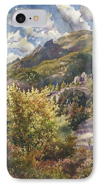 IPhone Case featuring the painting Morning Walk At Mount Sanitas by Anne Gifford