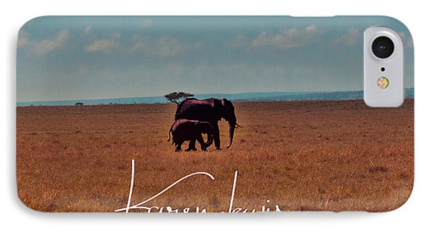 IPhone Case featuring the photograph Morning Walk by Karen Lewis