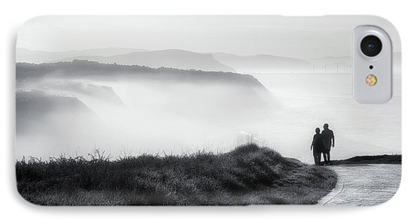 Morning Walk With Sea Mist IPhone Case by Mikel Martinez de Osaba