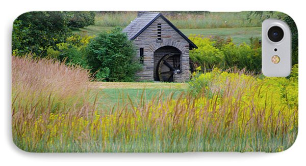 IPhone Case featuring the photograph Morris Arboretum Mill In September by Bill Cannon