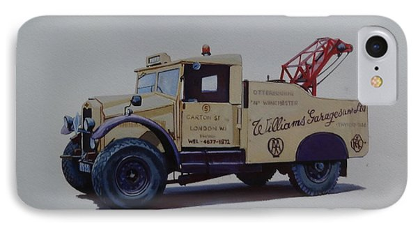 IPhone Case featuring the painting Morris Commercial Wrecker. by Mike Jeffries