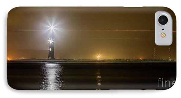 Morris Island Light House 140 Year Anniversary Lighting IPhone Case by Dustin K Ryan