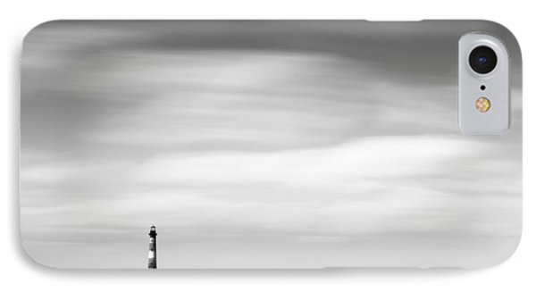 Morris Island Lighthouse Bw IPhone Case