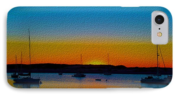 Morro Bay Abstract Sunset  IPhone Case by Barbara Snyder