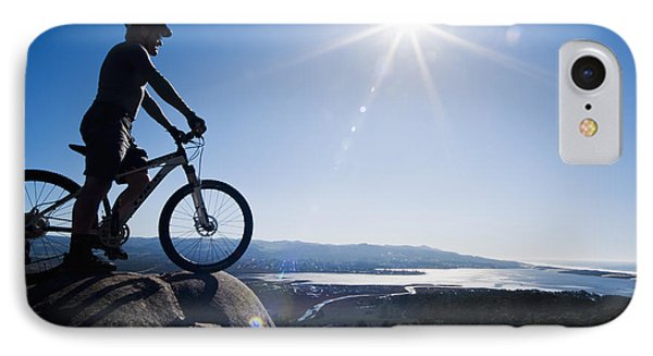 Morro Bay Biker IPhone Case by Bill Brennan - Printscapes