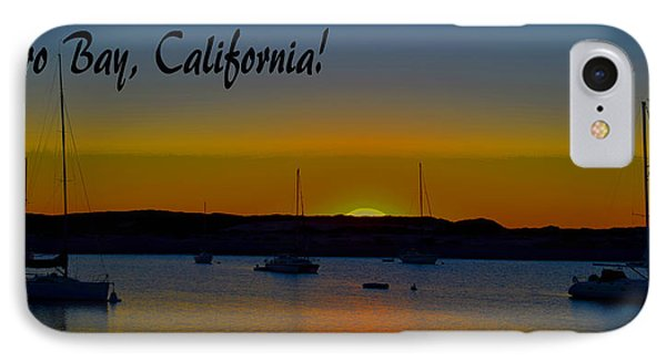 Morro Bay California Abstract Sunset IPhone Case by Barbara Snyder