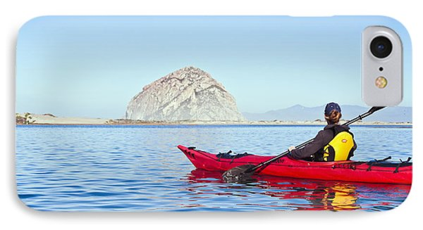 Morro Bay Kayaker IPhone Case by Bill Brennan - Printscapes