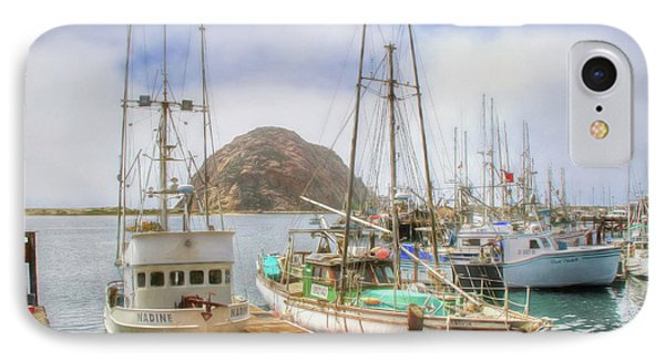 IPhone Case featuring the photograph Morro Bay Rock And Marina by Donna Kennedy