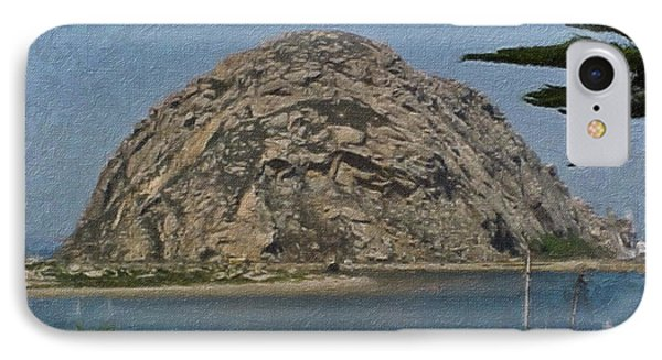 Morro Rock California Painting Phone Case by Teresa Mucha
