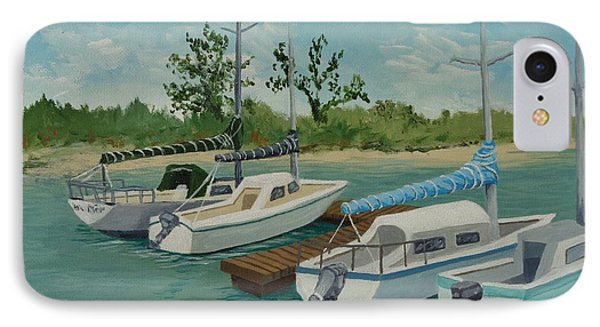 IPhone Case featuring the painting Morro Bay State Park Ca by Katherine Young-Beck