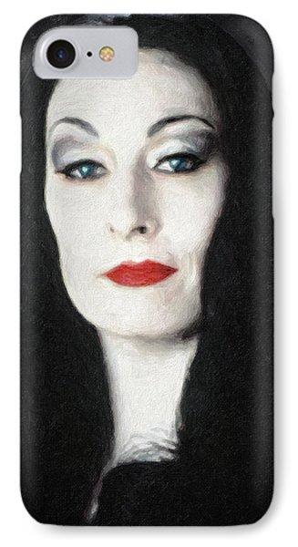 Morticia Addams  IPhone Case by Taylan Apukovska
