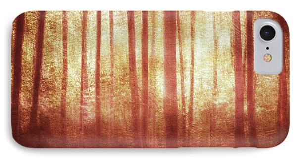Mortwood Forest In Red IPhone Case by Violet Gray