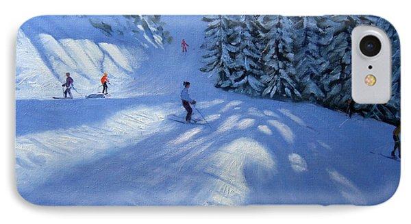 Morzine Ski Run IPhone Case by Andrew Macara