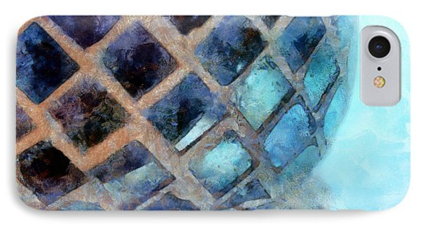 Mosaic Blues IPhone Case by Krissy Katsimbras