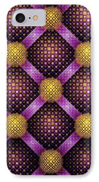 Mosaic - Purple And Yellow IPhone Case by Anastasiya Malakhova