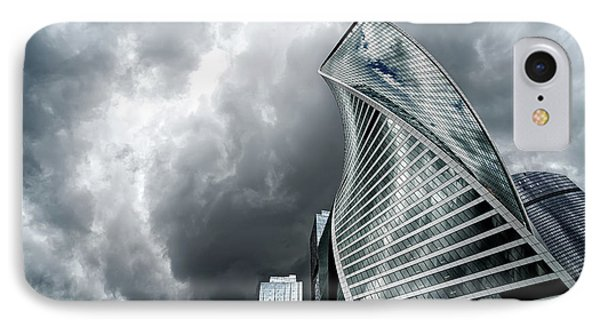 Moscow City And Storm IPhone Case by Anastasy Yarmolovich