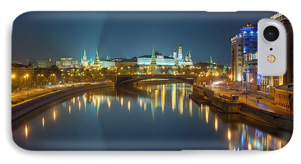 IPhone Case featuring the photograph Moscow Kremlin At Night by Alexey Kljatov