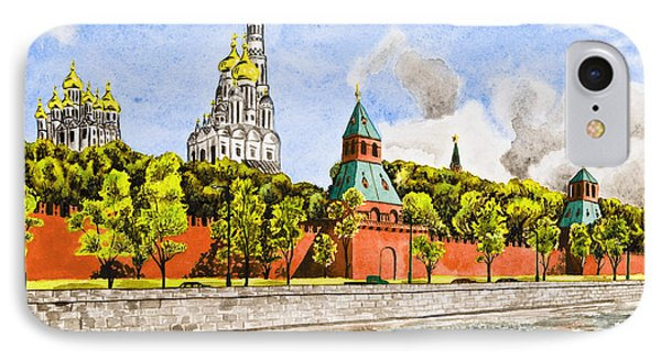 Moscow River Phone Case by Svetlana Sewell