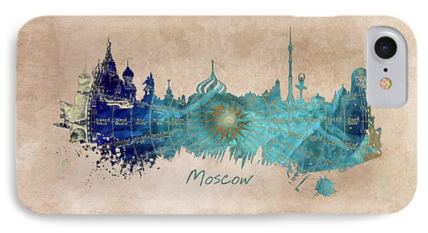 Moscow Skyline Wind Rose IPhone 7 Case by Justyna JBJart