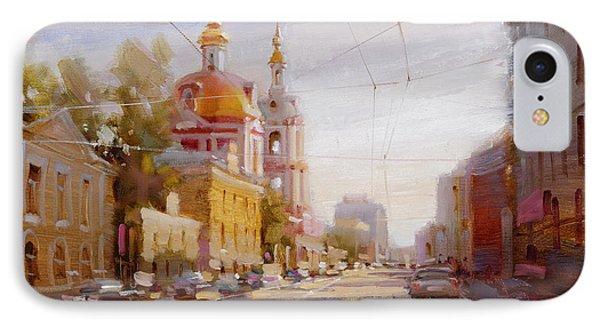 Moscow. Staraya Basmannaya Street IPhone Case by Ramil Gappasov