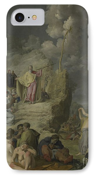Moses And The Brazen Serpent IPhone Case by Pieter Fransz de Grebber