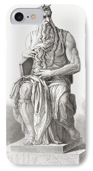 Moses, C. 1513 IPhone Case by Vintage Design Pics