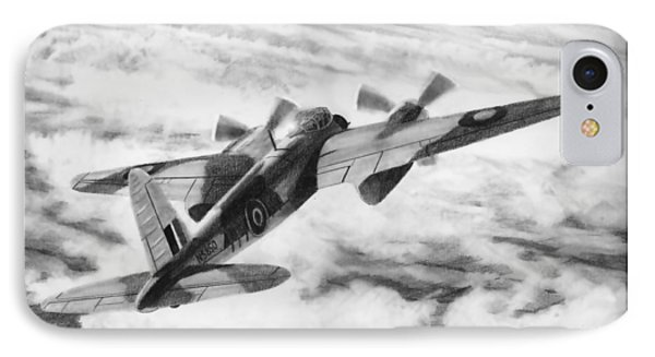 Mosquito Fighter Bomber IPhone Case by Douglas Castleman