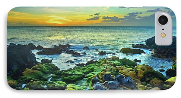 IPhone Case featuring the photograph Moss Covered Rocks At Sunset In Molokai by Tara Turner