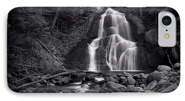 Landscapes iPhone 7 Case - Moss Glen Falls - Monochrome by Stephen Stookey