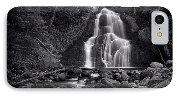 Moss Glen Falls - Monochrome IPhone Case by Stephen Stookey